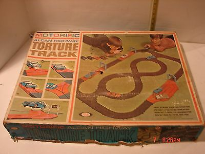 Vintage Ideal Motorific Car Driving Track Playset Alcan Highway Slot Car Style