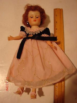 Vintage 10 Inch Horsman Cindy Doll Plastic Rosy Cheeks Clothing Dress Fashion