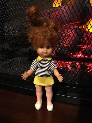 """Vintage Uneeda MIKI Doll Red Hair Clothes 5"""" Hair that Grows made in Hong Kong"""