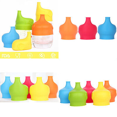 5 colors Silicone Kids Baby Sippy Lids Spill Proof  Make Cups Leak Proof