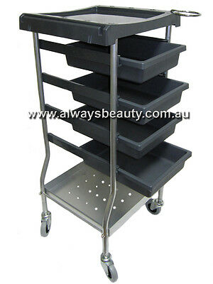 Grey 6 Tier Trolley Strong Rubber Wheels Salon Aussie seller