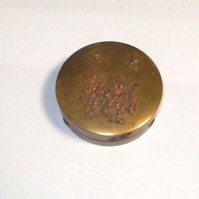 Large Old Bronze Japanese Mixed Metal Copper Trinket Jar Box