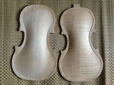4/4 Violin nice flamed maple back and old spruce top half finished