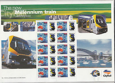 Australia. Personal Stamp sheet. Millennium Train