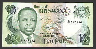 BOTSWANA  10  PULA  ND (1999)  P.20 b   Circulated = XF