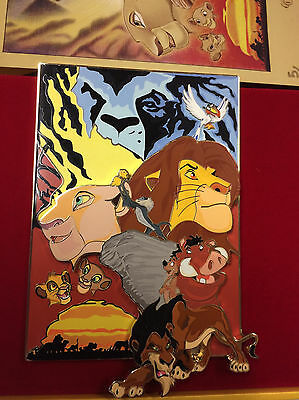 Disney Hong Kong Acme HotArt LION KING Jumbo Artist Pin & Litho LE 100 S/N 5