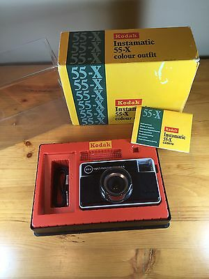 Kodak Instamatic 55-X Colour Outfit Camera With Box Instructions