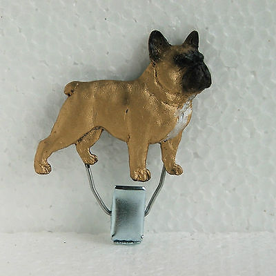 French Bulldog Fawn Show Ring Clip Dog Breed Jewellery Handpainted Handcrafted
