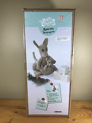 The Knitty Critters Alien Collection Rooney The Kangaroo Caron Crochet Kit Toy