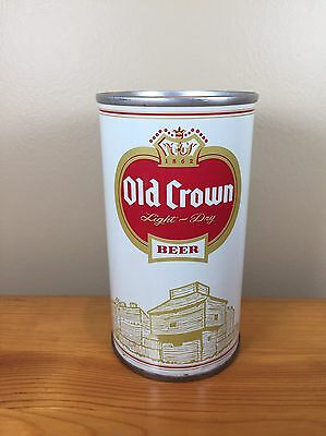 Vintage Beer Can Old Crown Peter Hand Brewing Chicago Illinois Steel Pull Tab