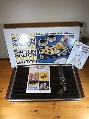 Vintage Salton Hotray Automatic Food Warmer H-922 Glass