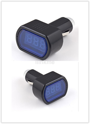 Hot Digital LED Auto Car Truck Cigarette Lighter Volt Voltage Gauge Meter CA