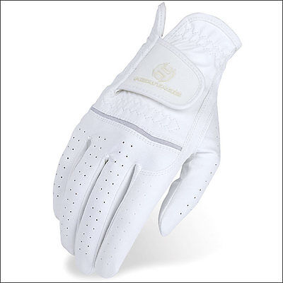 08 Size Heritage Leather Premier Show Horse Riding Equestrian Glove White