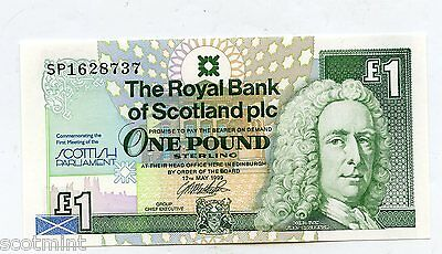 Royal Bank Of Scotland    Scottish Parliament Commemorative £1 Banknote