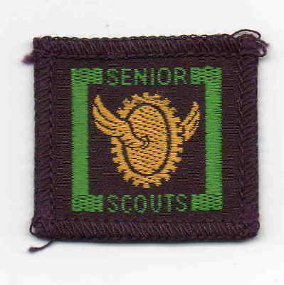 UK Boy Scout pre-1967 Senior Scout bound Mechanic badge with Senior Scouts