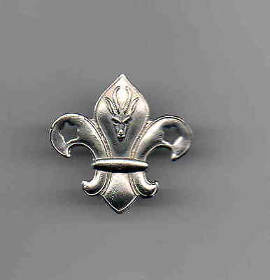 South Africa Scout silver coloured metal hat badge