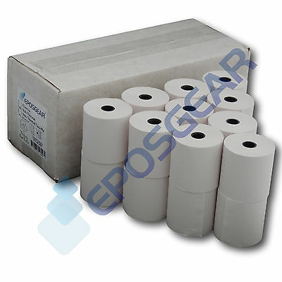 10 Casio 140-CR 140CR Single Ply Paper Receipt Till Rolls