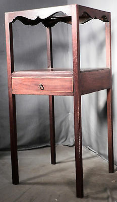 Antique Georgian Table Washstand Mahogany 1820 Early American 1 Drawer Period