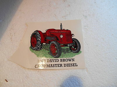 "1990s  3""  SMOOTH SURFACE TRANSFER OF DAVID BROWN CROPMASTER  DIESEL TRACTOR"
