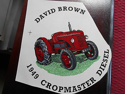 """1990s  5"""" SMOOTH SURFACE TRANSFER OF 1949 DAVID BROWN CROPMASTER  DIESEL TRACTOR"""