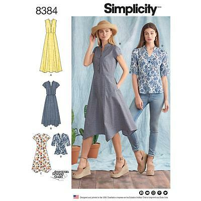 Simplicity Sewing Pattern Misses' Dress Length Variations & Top Size 6 - 24 8384