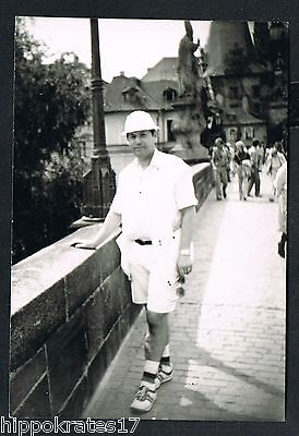 PHOTO vintage FOTO, Mann Mode Herr Hut man fashion hat homme chapeau (94b)