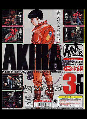 Kaiyodo AKIRA K&M Vol.3 Gashapon action Figure 6 complete set bike japan anime