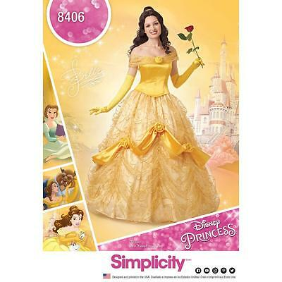 SIMPLICITY SEWING PATTERN MISSES Disney Beauty & the Beast DRESS SIZE 6-22 8406