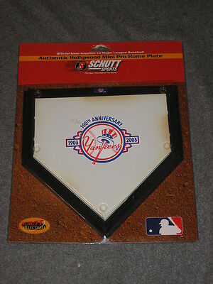 "New York Yankees Collectible 10"" Home Plate 100 Year Anniversary Schutt Sports"
