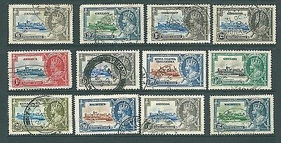 BRITISH EMPIRE - Used collection of 1935 Silver Jubilee stamps