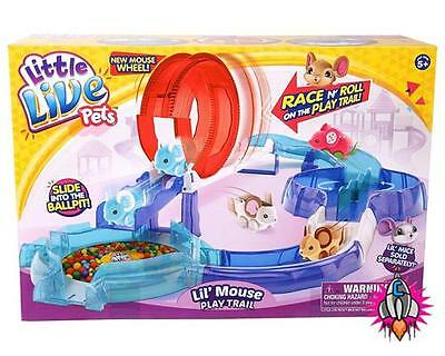Little Live Pets Lil Mouse Season Two Toy Mice Playtrail Play Trail Set