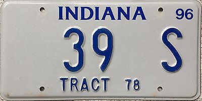 GENUINE 1978 American Indiana Tract USA License Number Plate 39 S