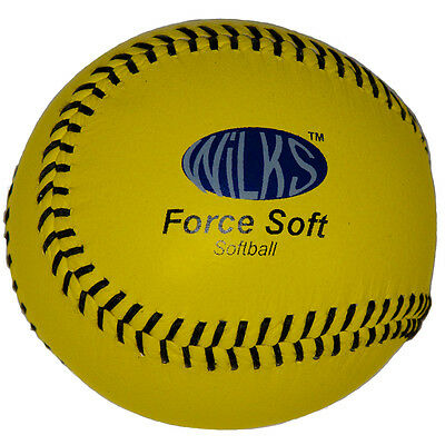 New Aresson Force Soft Tough Practice Leather Cover Softball Ball