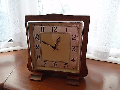 Stunning Art Deco Garrard 8 Day Mantle Clock with  square angular face