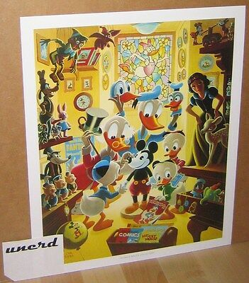Carl Barks Kunstdruck: In Uncle Walt's Collectery -Scrooge Donald Duck Art Print