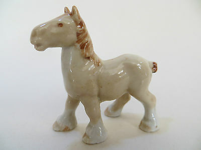 V RARE WADE Whimsie BEIGE SHIREHORSE . FARM SET. PERFECT. Original/First Series