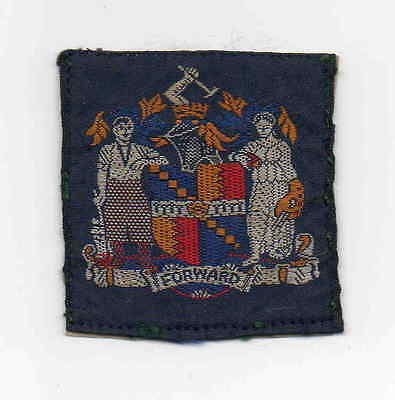 UK Scout old blue ribbon unnamed Birmingham County badge