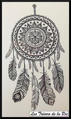 TATOUAGE TEMPORAIRE TATOO - Body art - Dreamcatcher - Noir