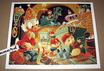 Carl Barks Kunstdruck: Business as usual - Scooge McDuck Money Bin Art Print