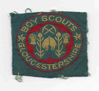 UK Scout old ribbon Boy Scouts Gloucestershire County badge