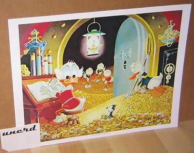 Carl Barks Kunstdruck: Visitor from Underground - Scrooge Money Bin Art Print