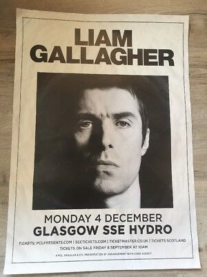 Liam Gallagher  - Rare gig/concert poster, Glasgow - June 2017 Oasis
