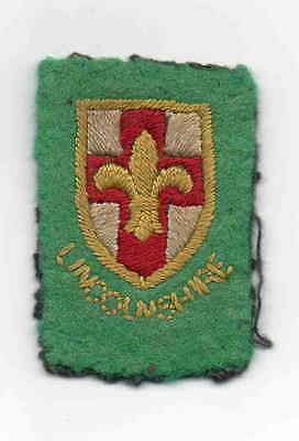 UK Scout very old felt Lincolnshire County badge