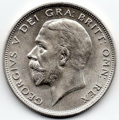 GEORGE V 1932 Half Crown Silver Coin High collectable grade with original lustre