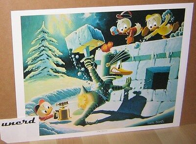 Carl Barks Kunstdruck: A Hot Defense - Donald Duck , Nephews Art Print