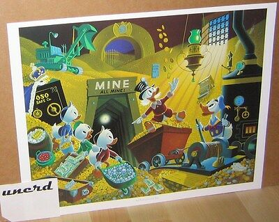 Carl Barks Kunstdruck: Rich Finds at Inventory Time -Scrooge Money Bin Art Print