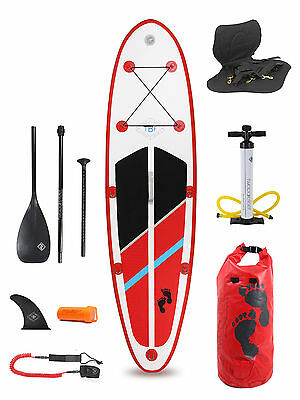 Model ONE Rojo 9'9 Inflatable Paddle Board + Deluxe SUP Pack inc Paddle & Seat