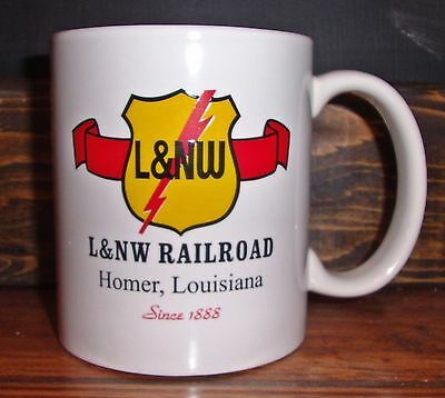Louisiana & North West L&NW RAILROAD COFFEE MUG ((