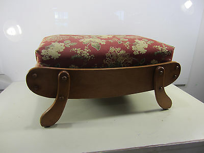 1960's Solid Maple Hassock/Foot Stool- Great Cottage Look