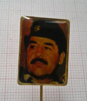 Saddam Hussein Vintage Pin Badge - Iraq